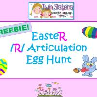 FREEBIE! Easter Egg Hunt Articulation – /R/ Sound Game & Activity