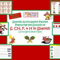 Spanish Articulation Featuring the S, Ch, & F FREE PAGES