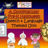 A Spooktacular Pre-K Speech & Language Unit + black and white worksheets!