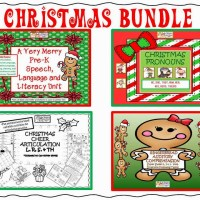 Christmas Bundle! Expressive & Receptive Language, Grammar & Articulation!