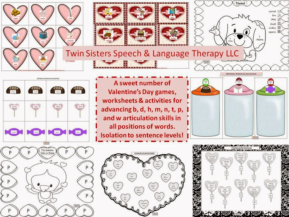 Our Two New Units! Verbal Apraxia and Pre-K Valentine's Day - Twin ...