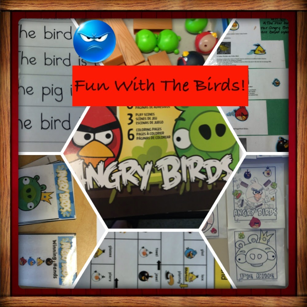 Themed Speech Therapy Sessions: Angry Birds, Father's Day, Pizza, Bugs, Fish, Mother's Day, & Dr. Seuss Units (as seen on recent TSSALT Instagram posts)