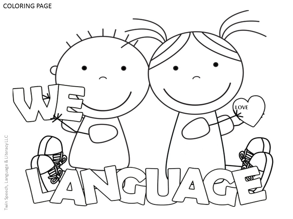 FREE Speech Therapy Door Signs & Coloring Pages