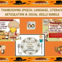 TURKEY TIME! Speech, Language, Literacy, Articulation and Social Skills Bundle!