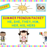 Freebie! SUMMER PRONOUNS- HE, SHE, THEY, HIM, HER, HIS, HERS