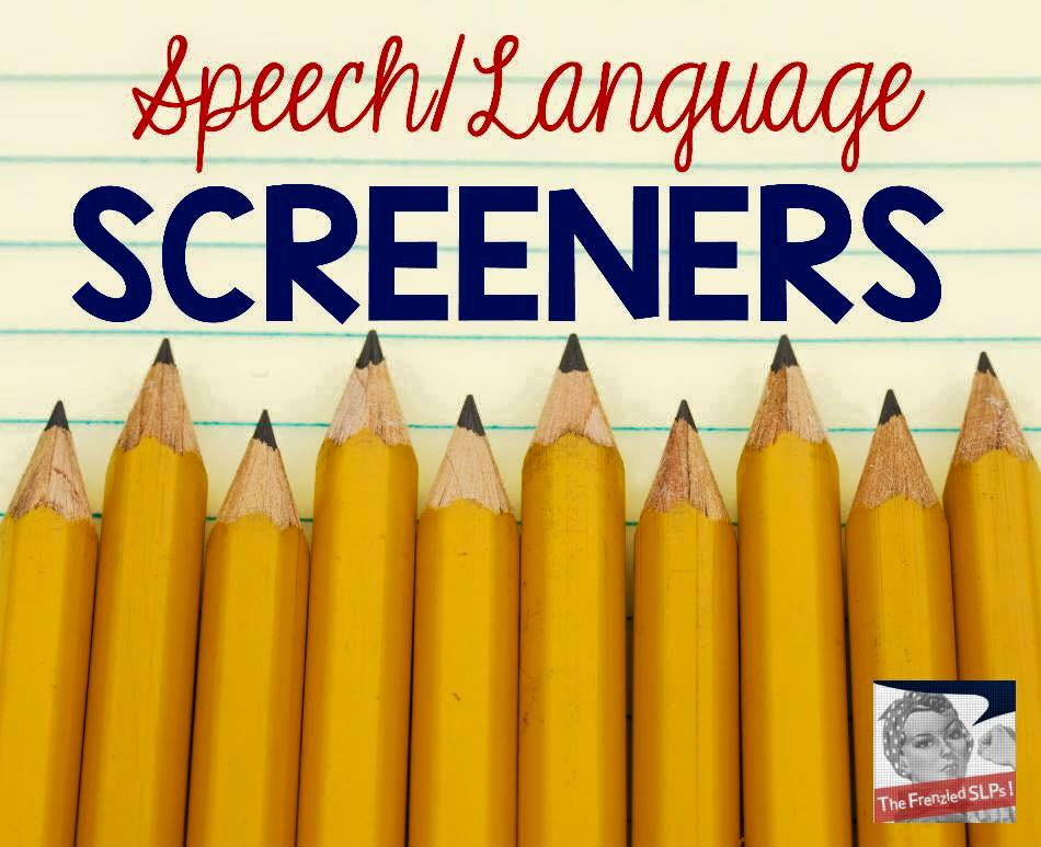 Speech and Language Screeners Linky Party + FREEBIE!