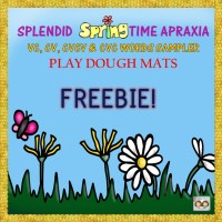 8x8  spring playdough mats freebie