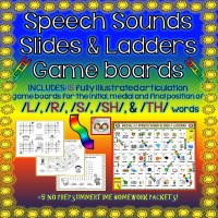 FREEBIE & HUGE REVISION ALERT: SPEECH SOUNDS SLIDES & LADDERS: /L/, /R/, /S/, /SH/ & /TH/ SOUNDS