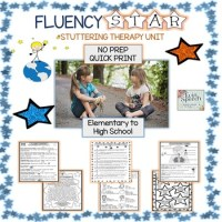 NEW and 50% off! FLUENCY STAR STUTTERING THERAPY UNIT: NO PREP! COMPREHENSIVE!