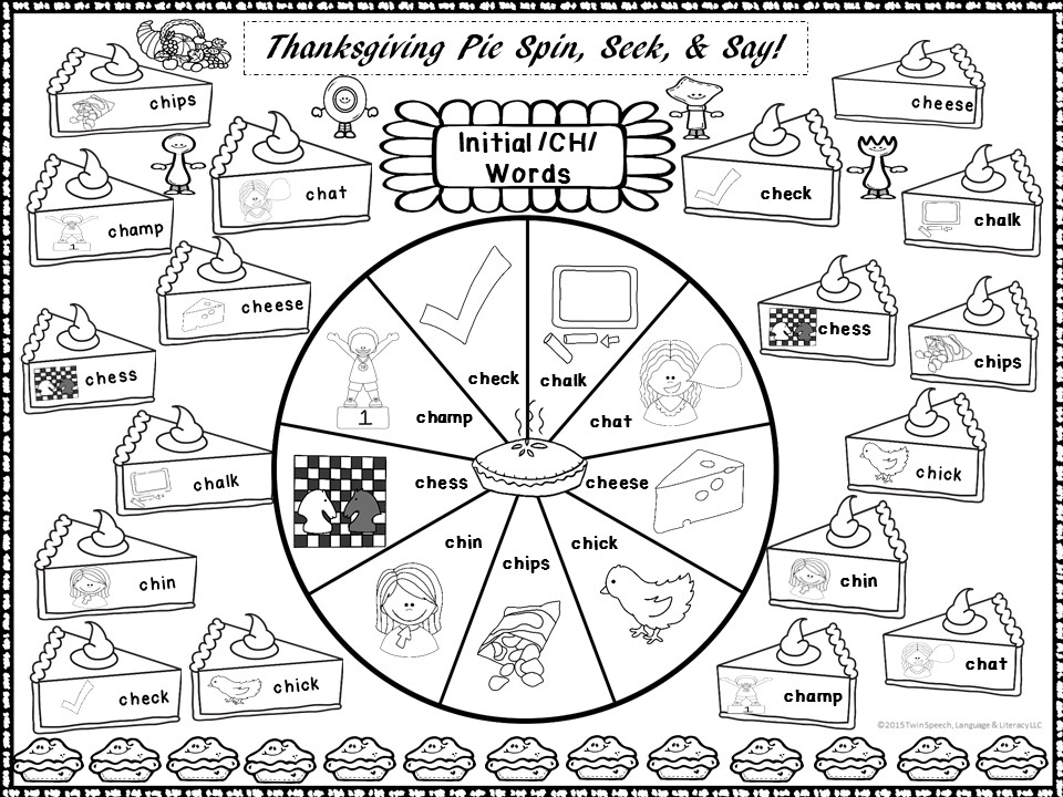Turkey Talk Games Sampler: Spin, Trace, Color & Say + Tic