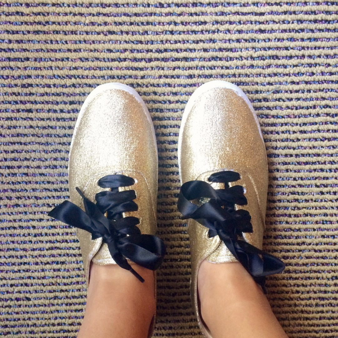 e31b43abee DIY  Keds x Kate Spade Champion Glitter Shoes