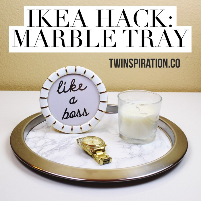 IKEA Hack: Marble Tray by Twinspiration: http://twinspiration.co/ikea-hack-marble-tray/