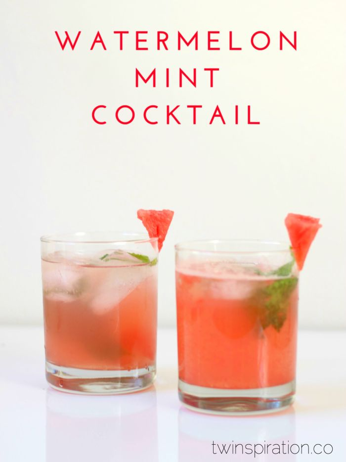 Watermelon Mint Cocktail Recipe by Twinspiration at http://twinspiration.co/watermelon-mint-cocktail/