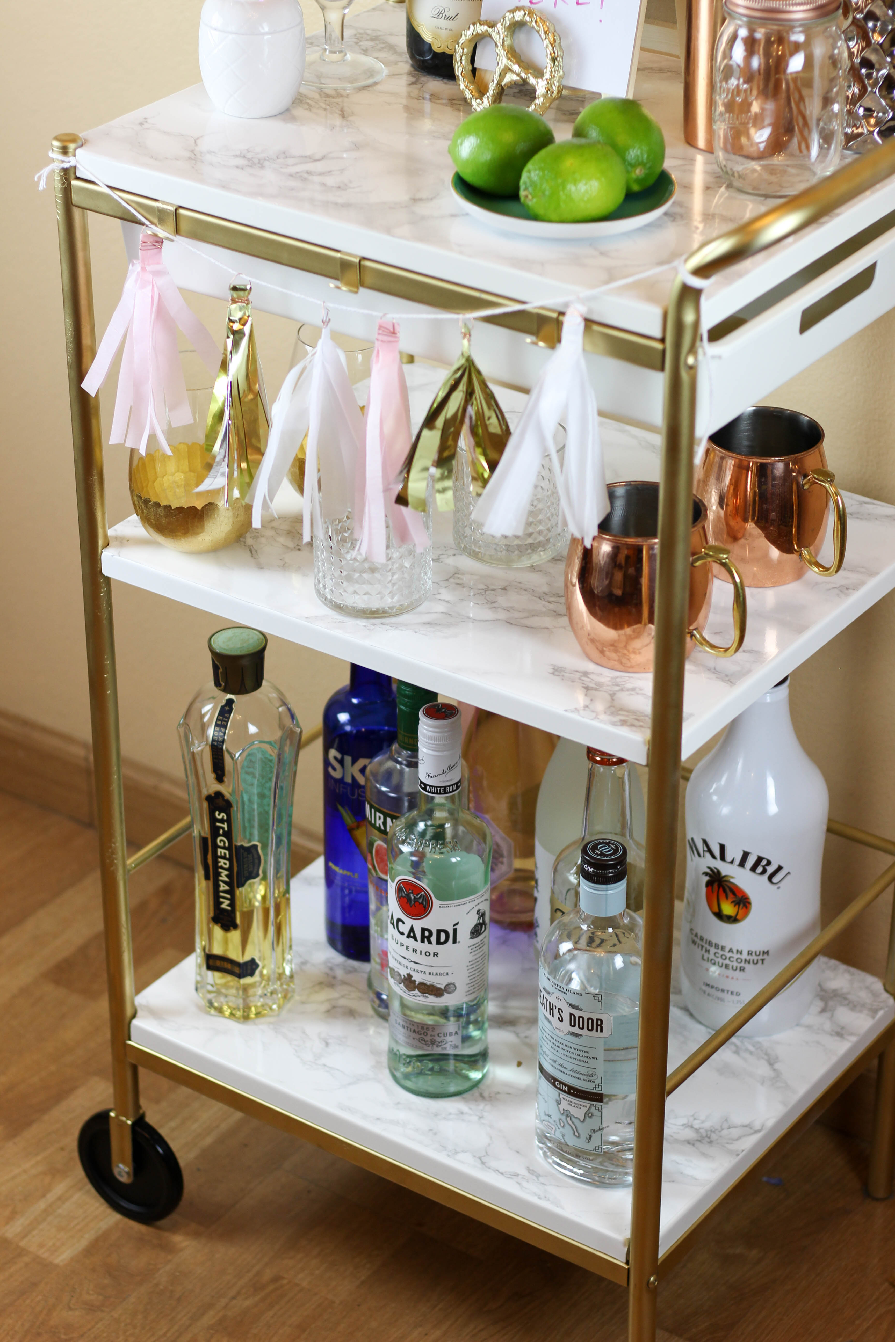 Ikea Hack Gold Marble Bar Cart Twinspiration