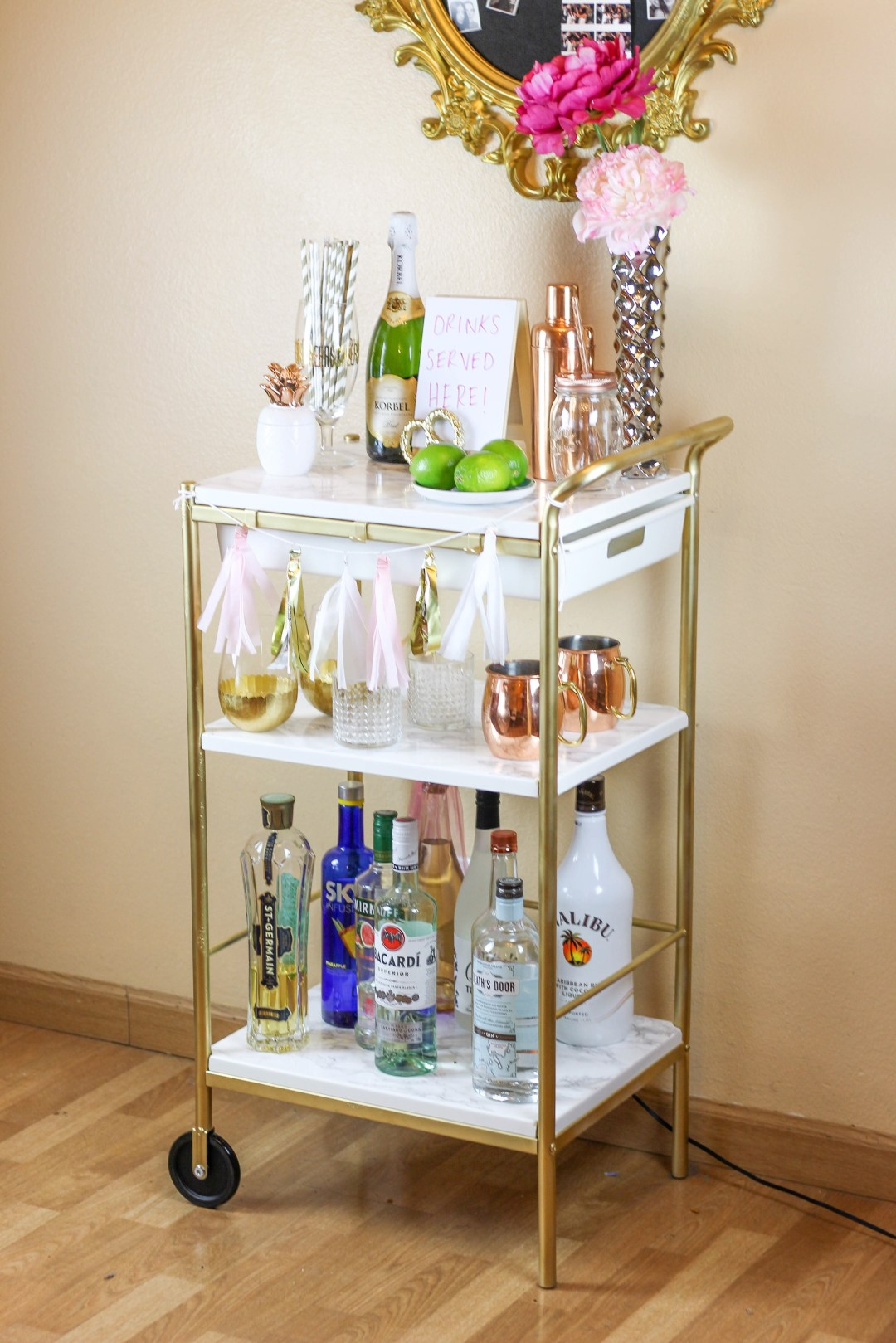IKEA Hack: Gold & Marble Bar Cart