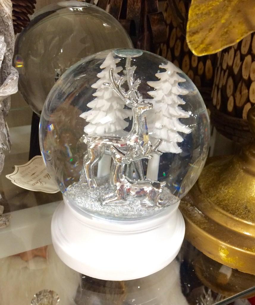 Silver and White SnowGlobe