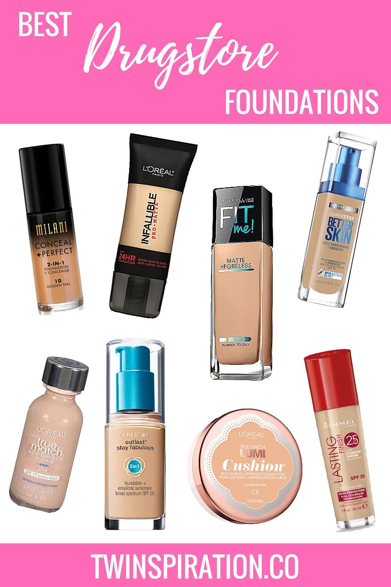 Best Drugstore Foundations | Twinspiration