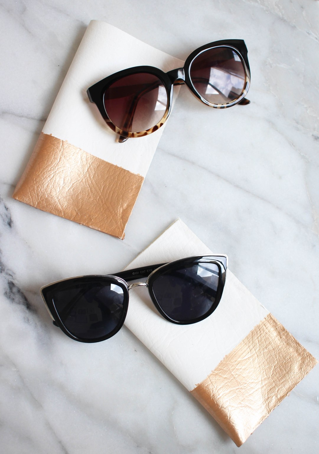 DIY No-Sew Sunglass Case | Twinspiration