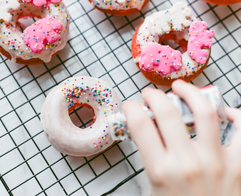 Circus Animal Cookie Donuts | Twinspiration