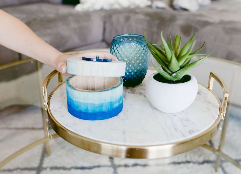 DIY Blue Watercolor Box | Twinspiration
