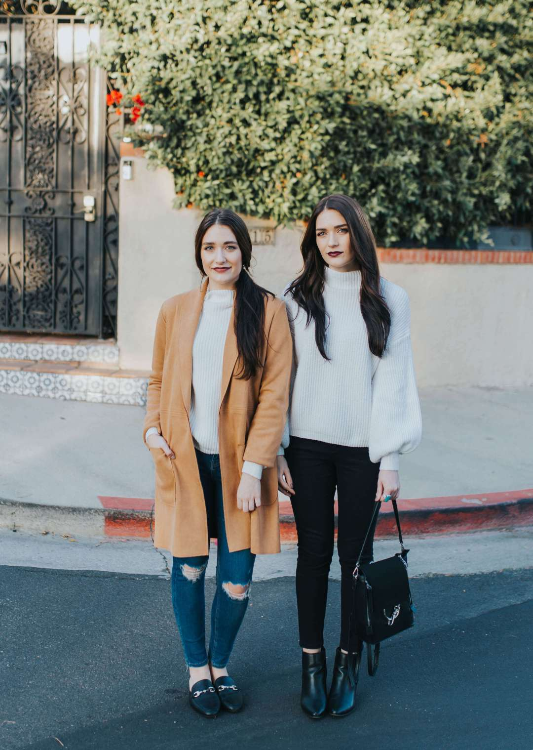 One Piece, Two Ways: Cream Turtleneck | Twinspiration