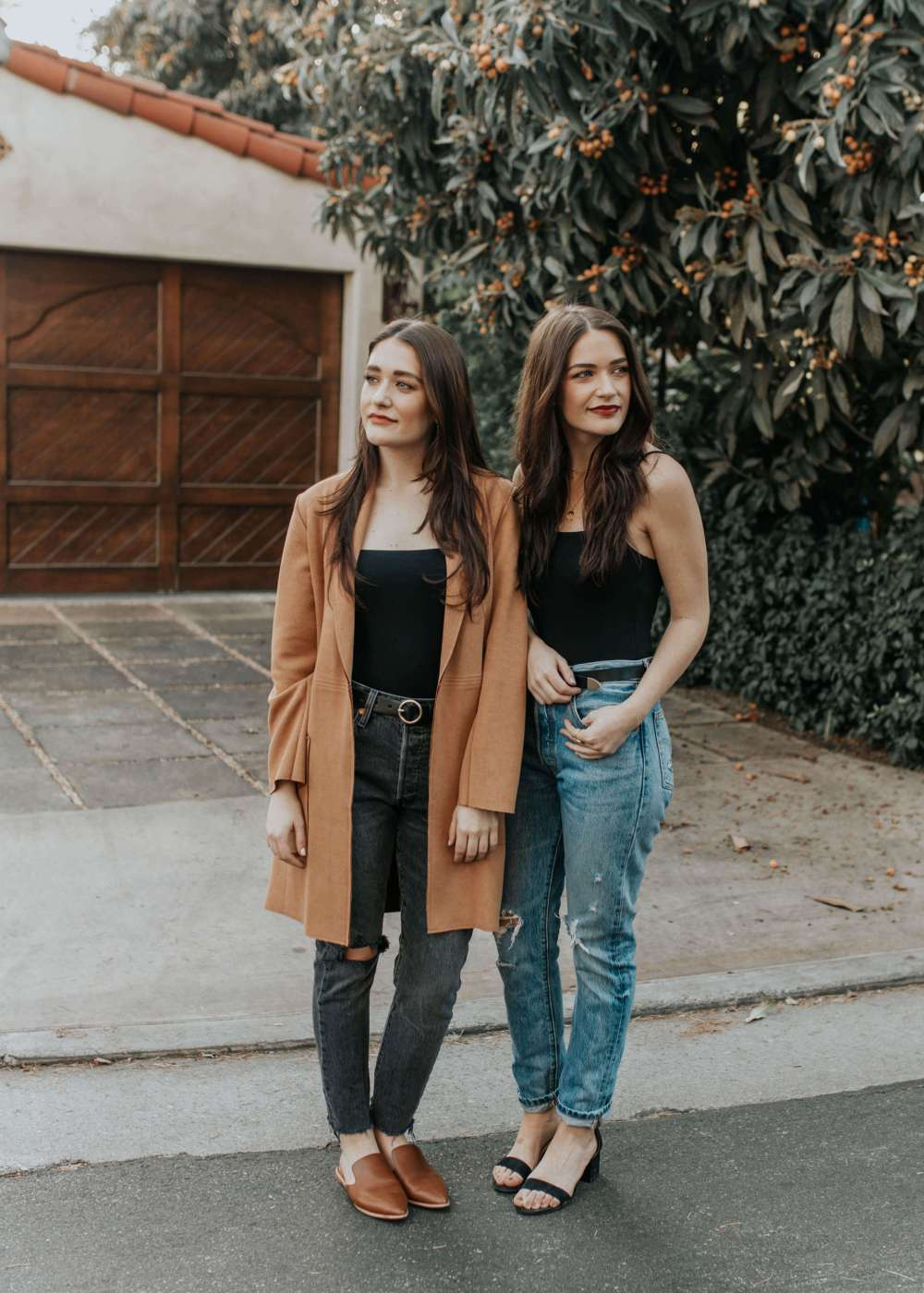 One Piece, Two Ways: Black Bodysuit | Twinspiration