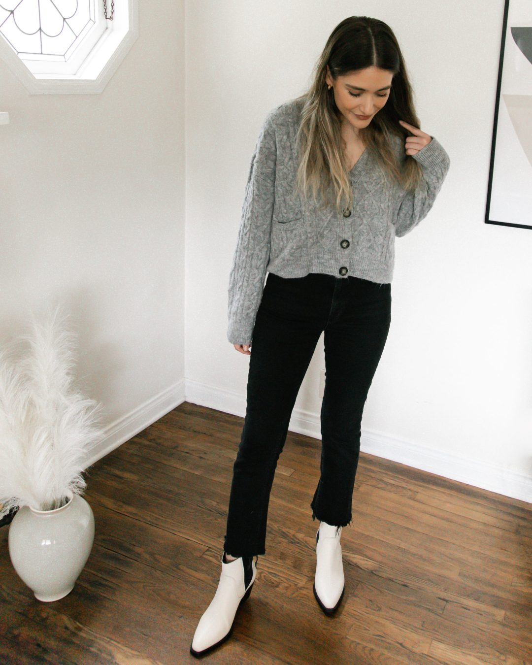 Cozy Cropped Cardigan for Winter | Twinspiration