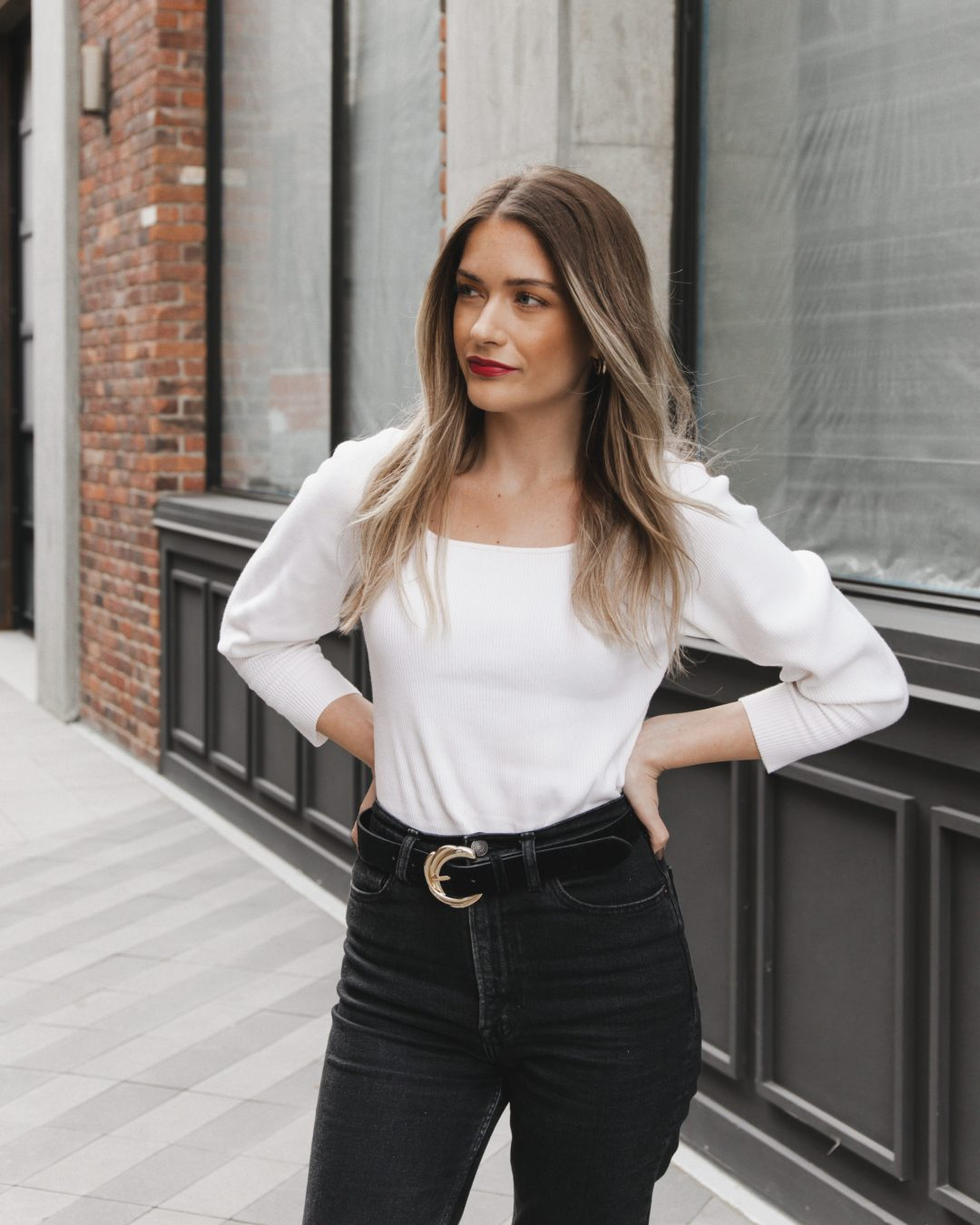 Square Neck Knit Top   Twinspiration