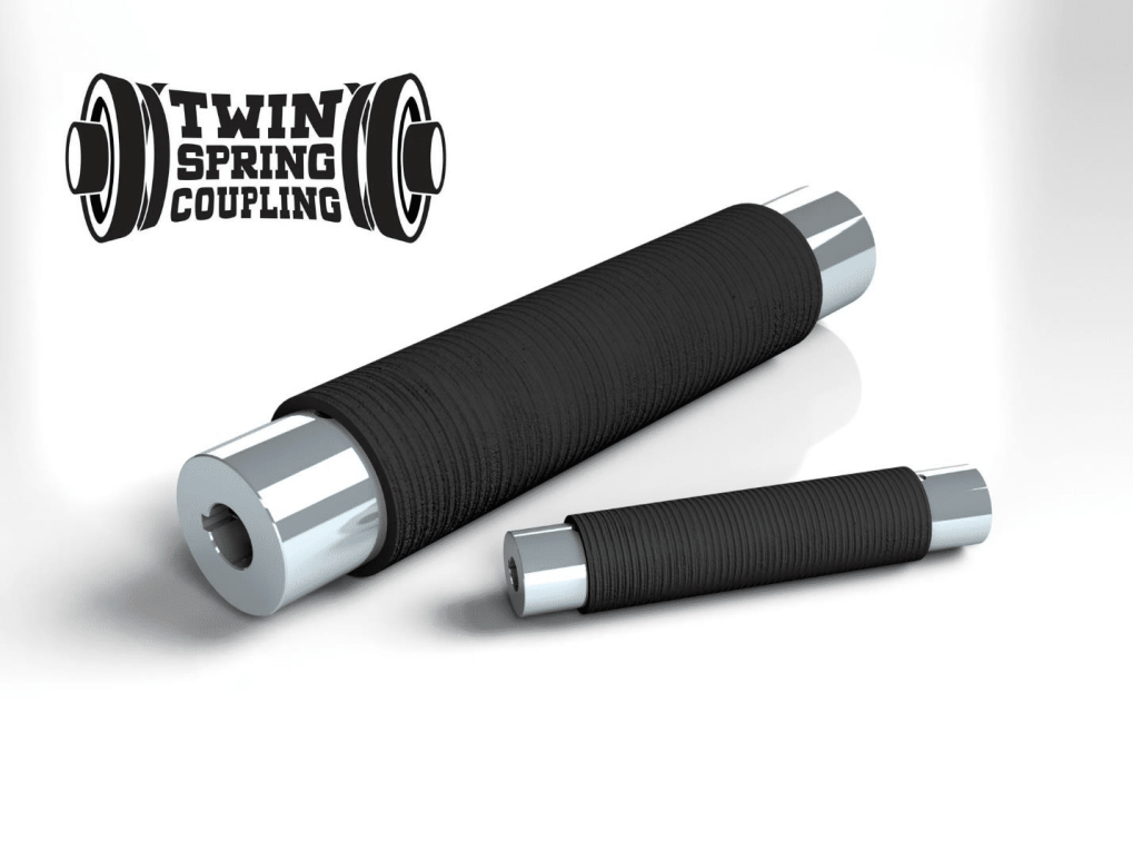 Twin Spring coupling flexible coupling replaces universal joints, servo, beam, bellows and elastomeric couplings