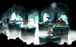 Combat borrows from a classic RPG formula.