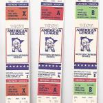 1981 Twins phantom ALDS tickets. Click on the tickets to see the full image.
