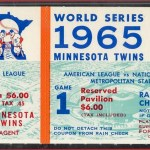 1965 World Series Game 1 ticket. Click on the ticket to see the full image.