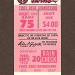 1978 Twins ticket