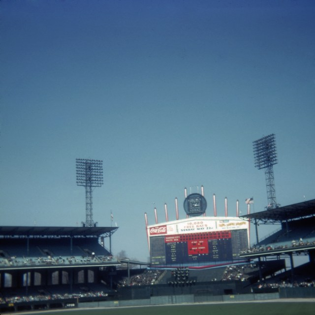 Comiskey Park scoreboard April 16, 1966