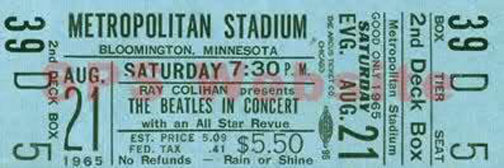 If you were lucky enough to have one of the most expensive tickets, it would have looked like this.