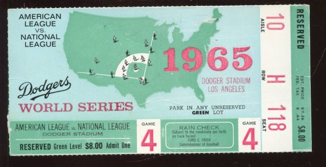 1965 World Series Game 4