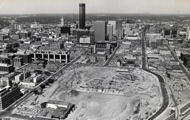 June 12, 1980: The domed Hubert H. Humphrey Stadium in downtown Minneapolis is beginning to take shape as construction continues on schedule. The 65,000-seat facility, scheduled to open in April of 1982 is about $11.7 million below budget. (Pioneer Press file photo)