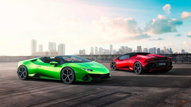 Supercar Lamborghini lifts the lid on Huracan EVO Spyder