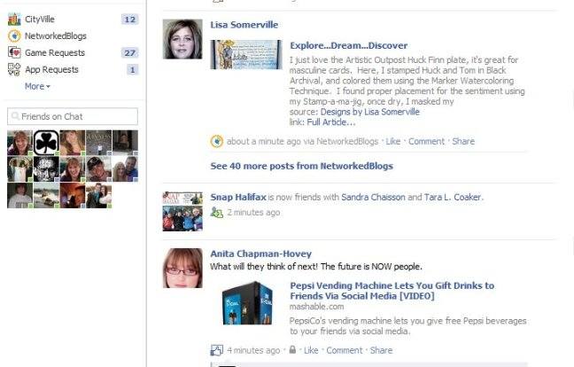 Multiple networked blogs posts condensed on Facebook