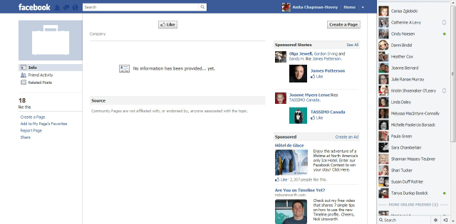 Wrong Employment Page on Facebook