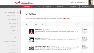 using manage flitter to clean your twitter account