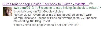 Anita Hovey Twirp Communications Google Authorship
