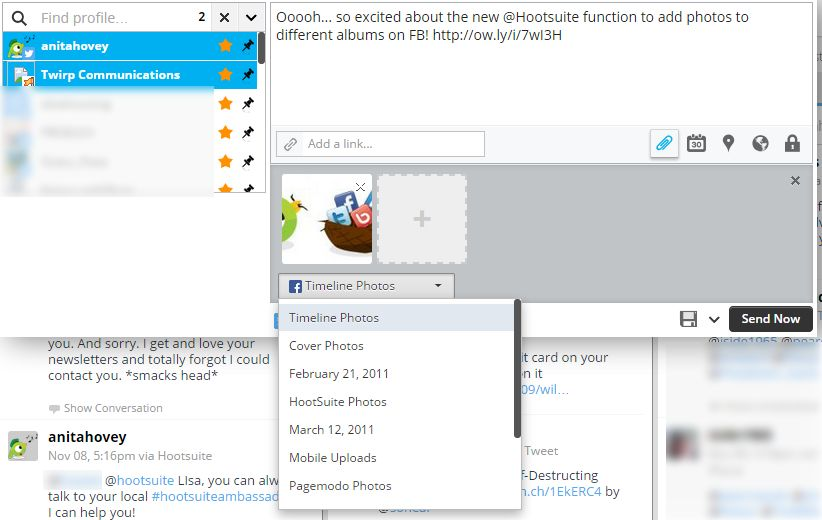 hootsuite features screen cap