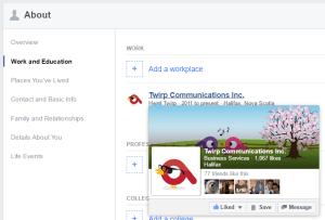 employment link on Facebook