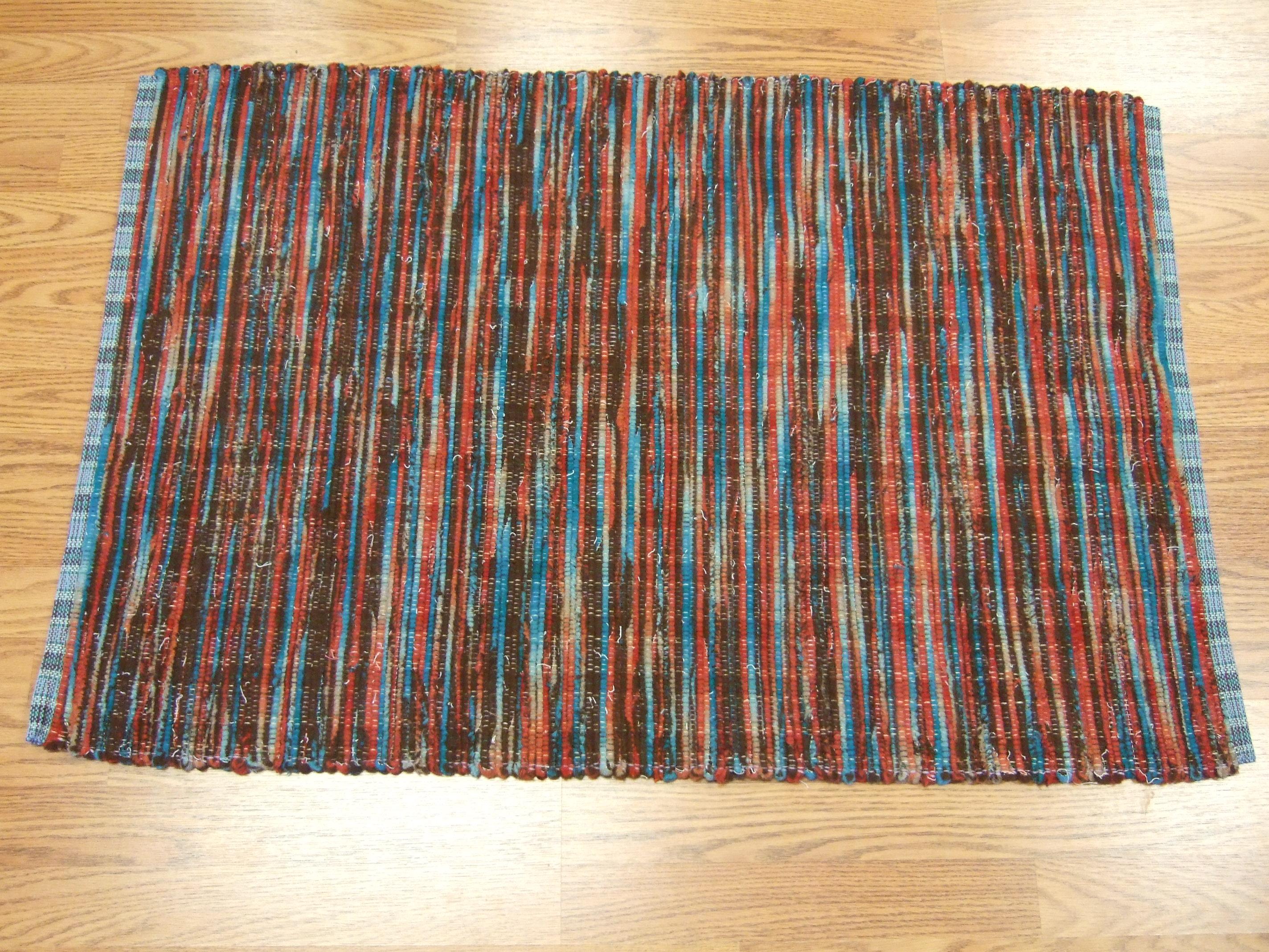 "Pendleton blanket edge selvage (""worms"") - made 2 alike"