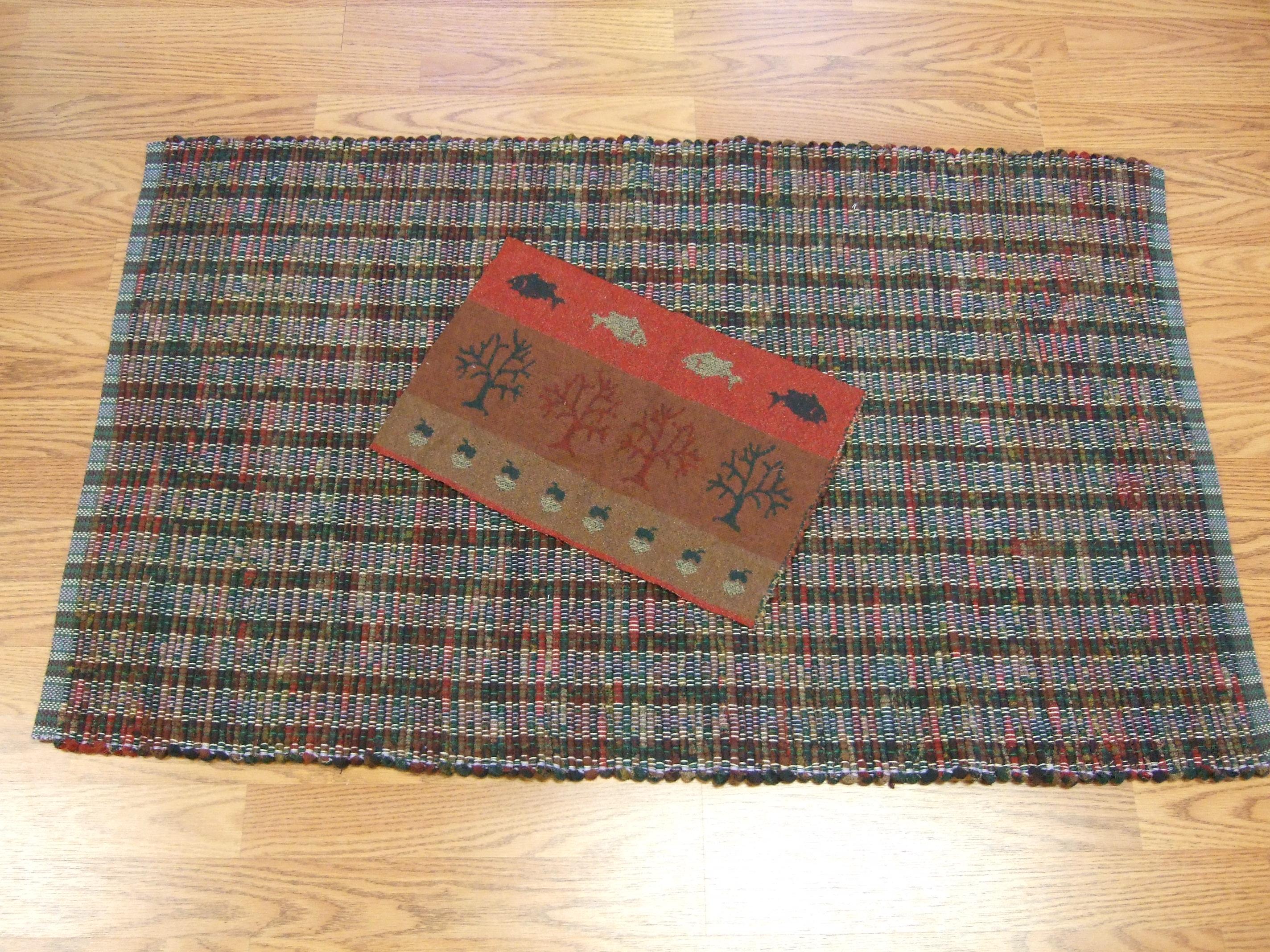 Pendleton wool fabric: rich brown/ red/green vintage print