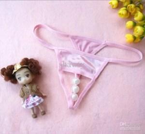 Pink 3 Pearl Thong