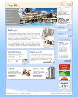 Web design mockup for Costa Rhu Condominium pitch