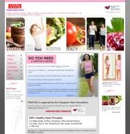 Web design mockup for Health Basics Singapore (version 1)