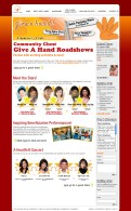 Microsite web design and set up for NCSS Community Chest - Give A Hand! 2006 campaign